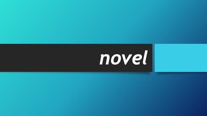 definisi novel