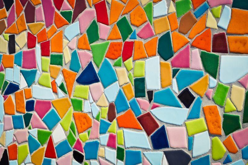 teknik mozaik 3 dimensi