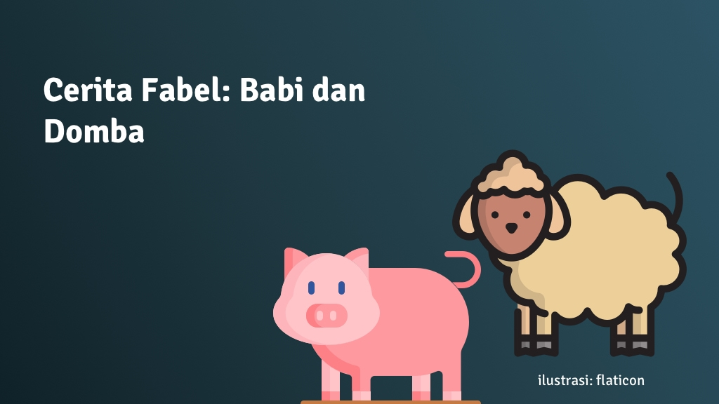 cerita fabel babi domba