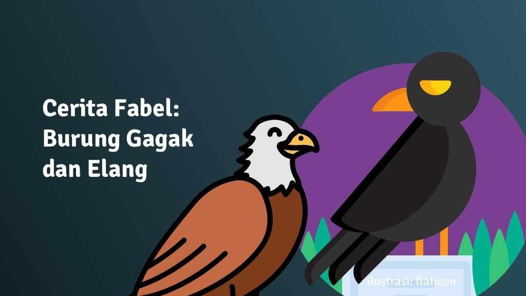 cerita fabel burung gagak elang