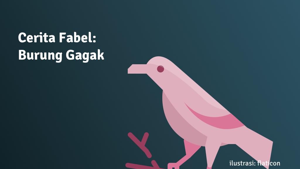 cerita fabel burung gagak