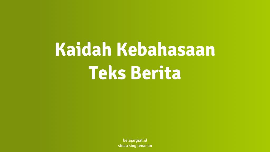kaidah bahasa