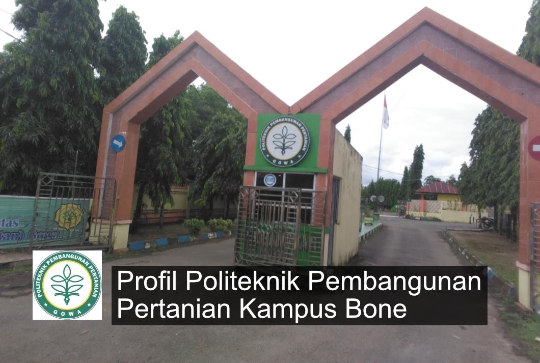 profil politeknik pembangunan pertanian kampus bone
