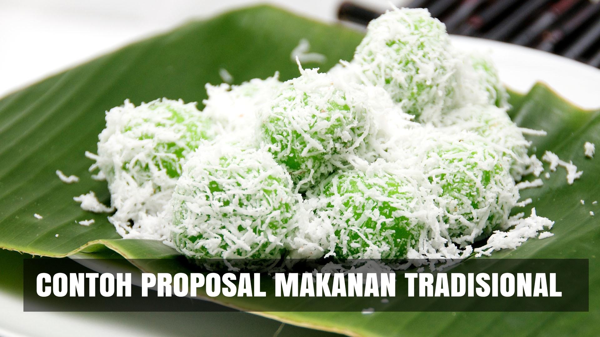 Download Contoh Proposal Usaha Makanan Tradisional