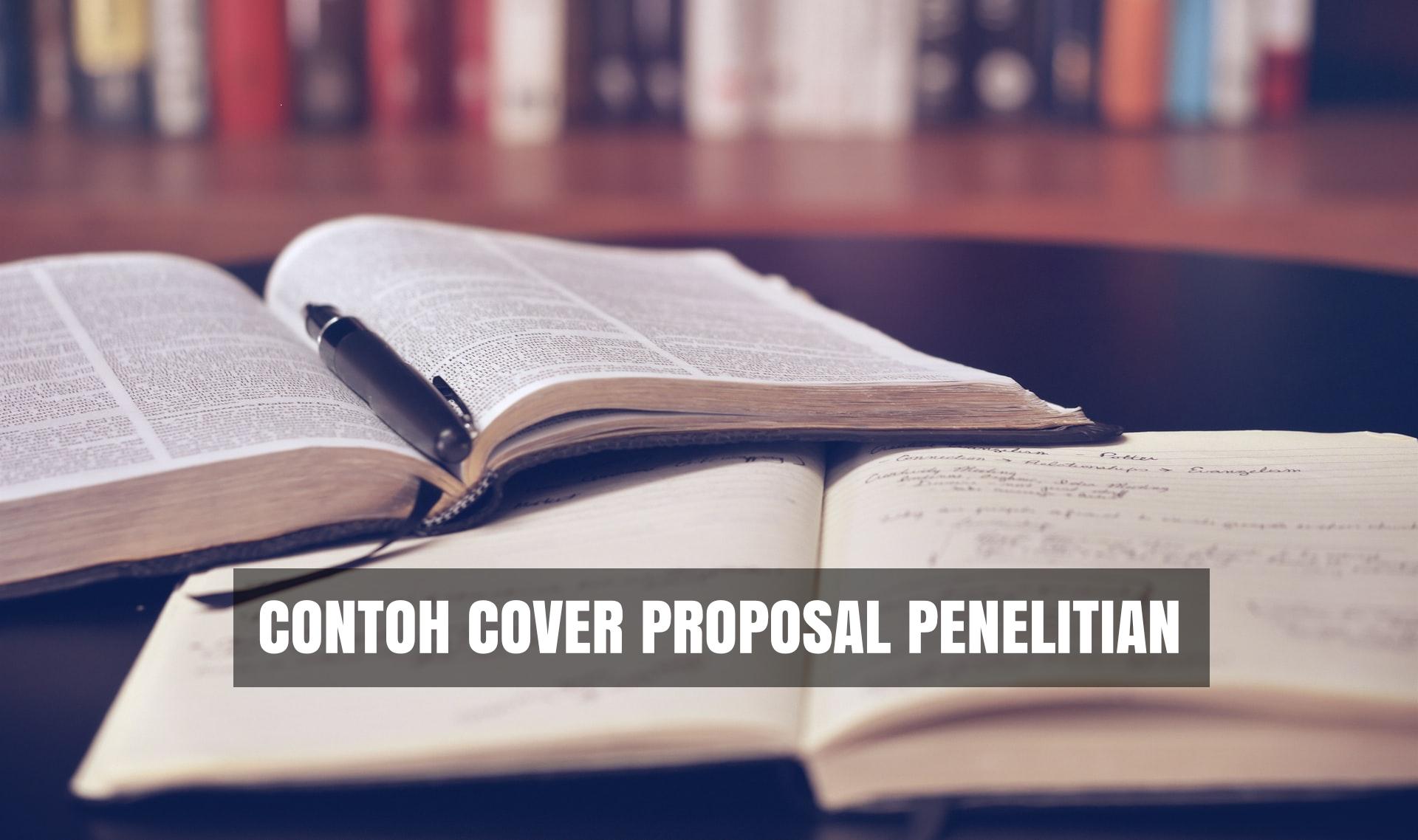 contoh cover sampul proposal penelitian